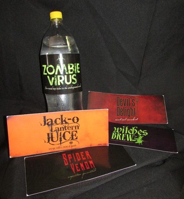 Halloween drinks labels