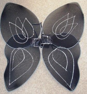 Black fairy wings