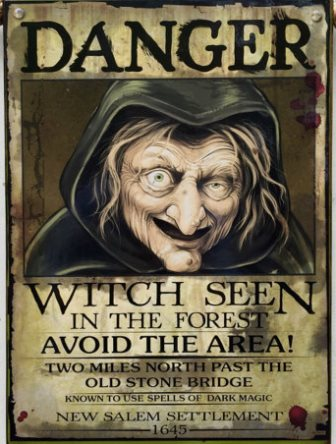 Danger witch sign