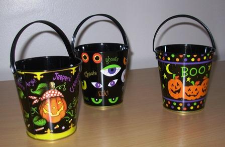 Halloween sweet buckets