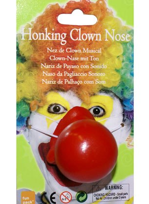 Honking clown nose