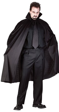 Black halloween cape