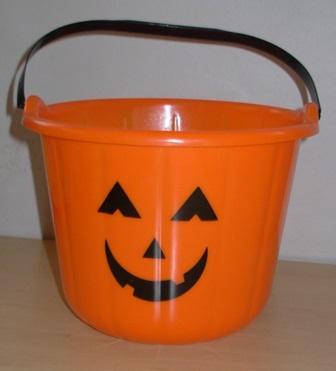 Pumpkin treat bucket