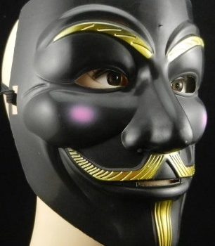 Black vendetta mask