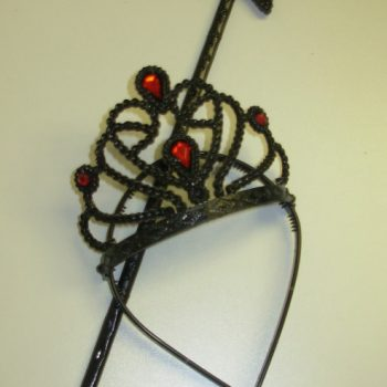 Black tiara & wand set