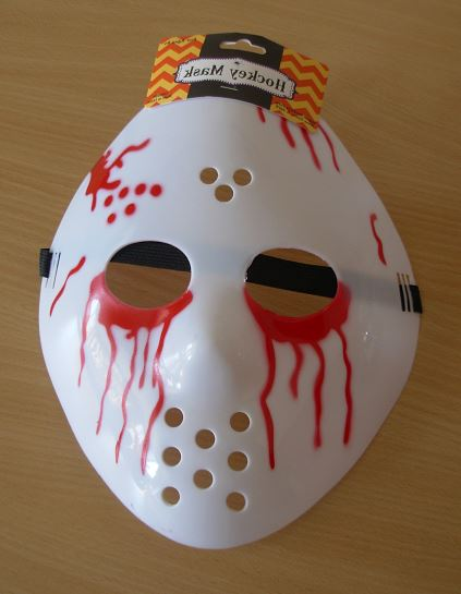 Hockey mask with blood drips