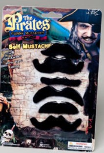 Fake stick on moustaches