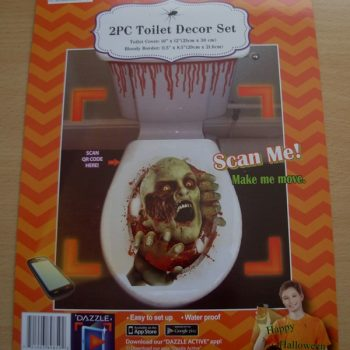 Toilet decor set - zombie