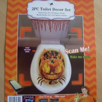 Toilet decor set - pumpkin