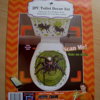 Toilet decor set - spider