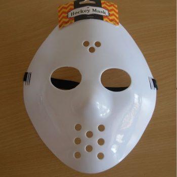 White hockey mask