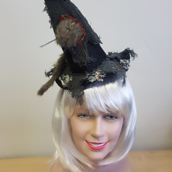 Witch hat with rat