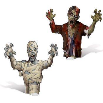 3D Zombie & Mummy centrepieces