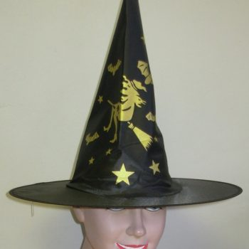 Black & gold witch hat