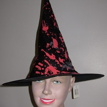 Blood spattered witch hat