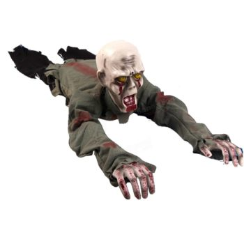 Crawling animated zombie