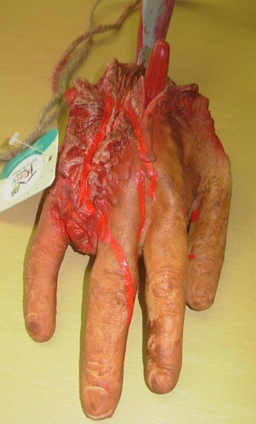 Cut off hanging hand