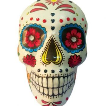 Day of the dead skull decoration