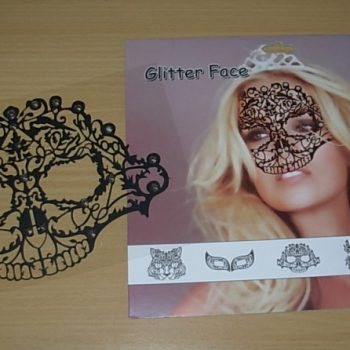 Glitter face sticker - half skull