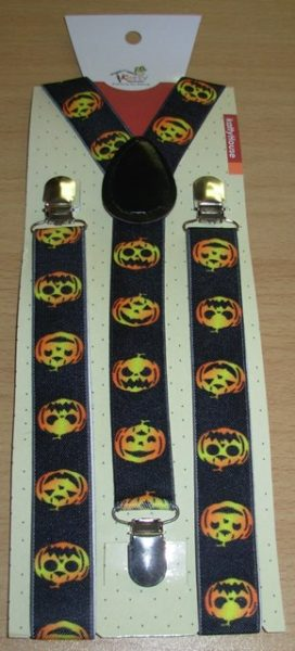Suspenders - pumpkin design