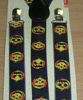 Suspenders - pumpkin design