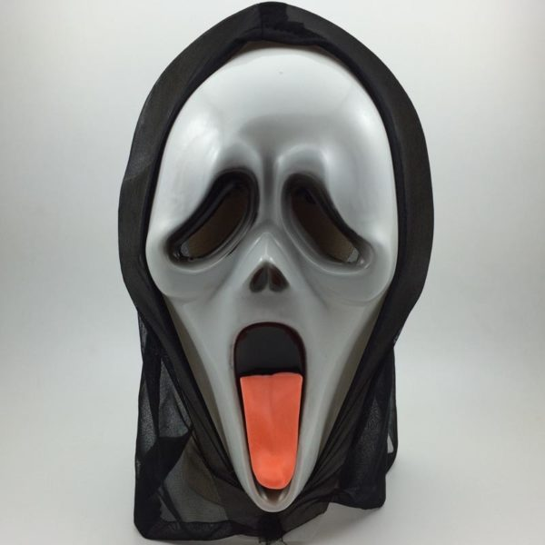 Scream mask with tongue