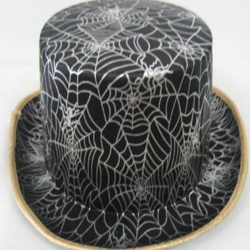 Top hat with spider web design