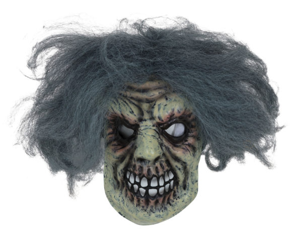 Horror man mask with hair