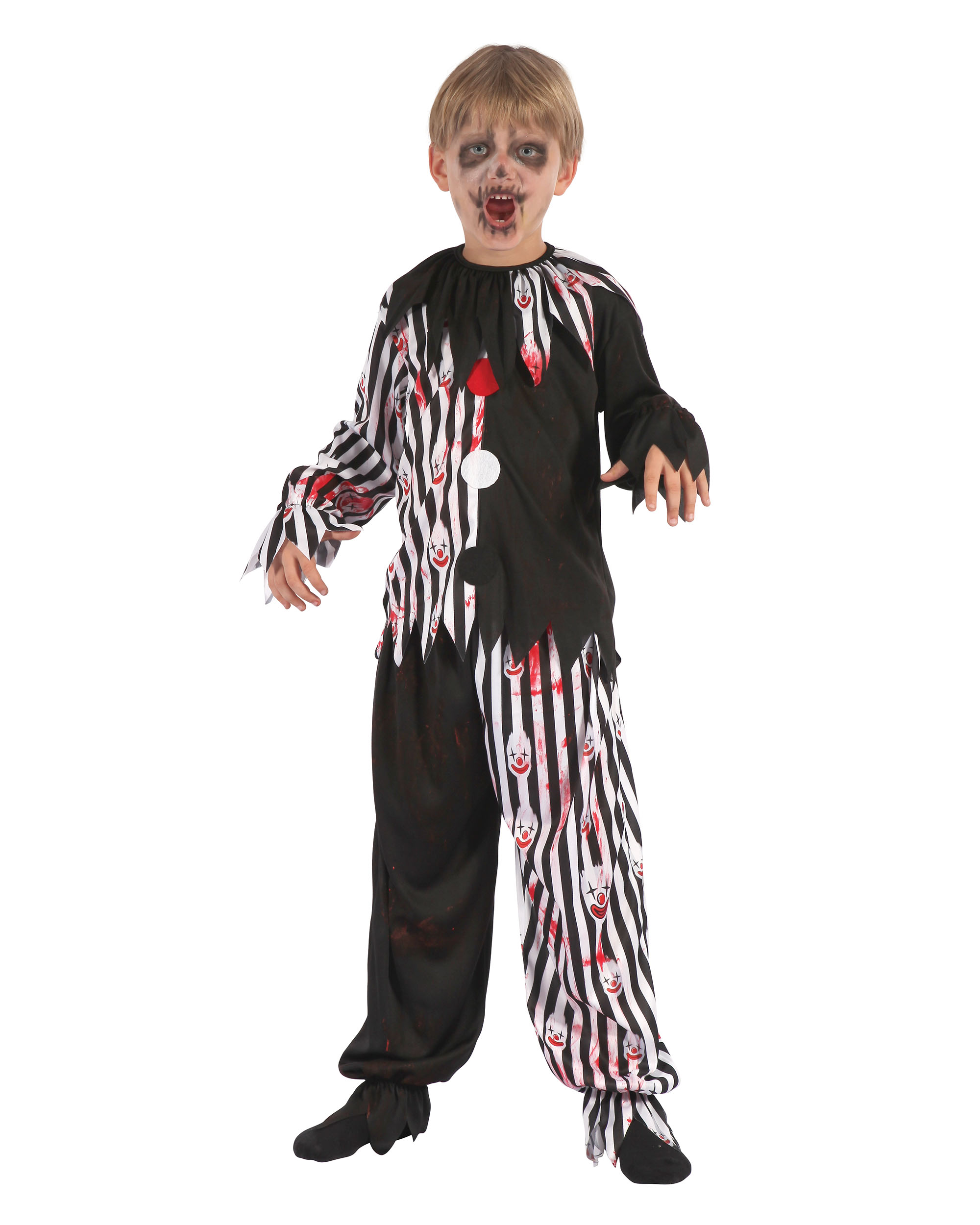 Bloody Harlequin clown