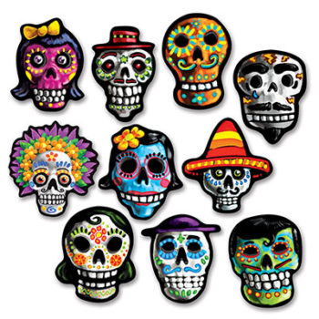 Day of the Dead cut outs