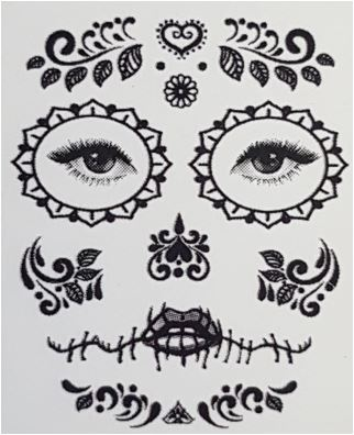 Day of the Dead costume tattoo