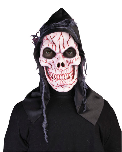 Hooded ghost skull mask