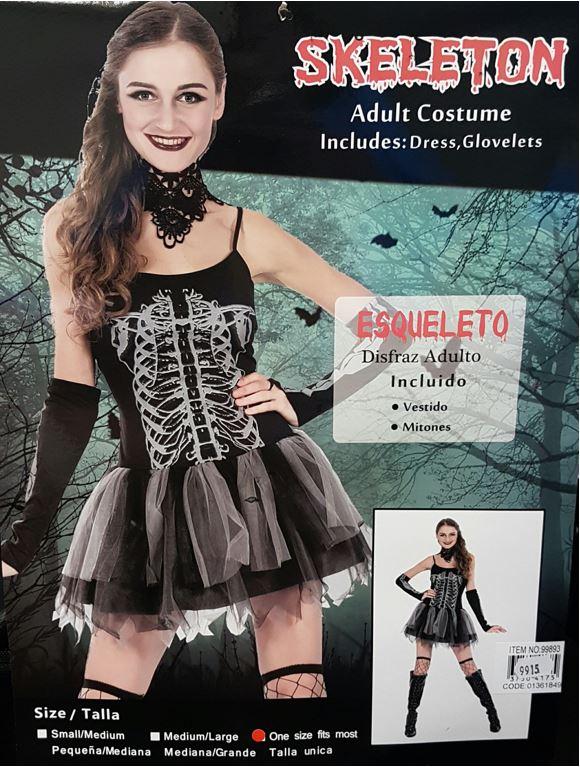 Skeleton kady costume
