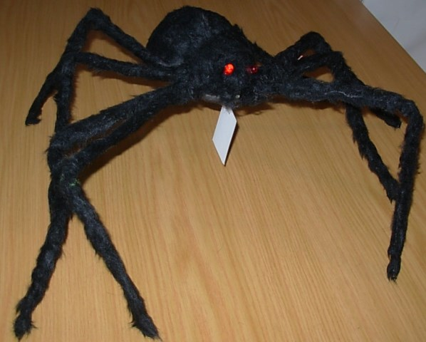 Large hairy spider with light up eyes
