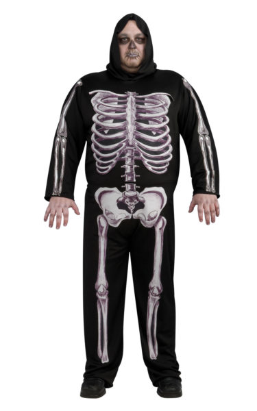 Skeleton costume plus size
