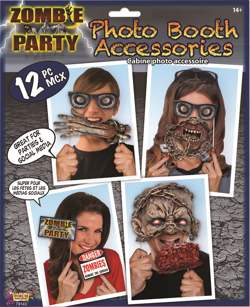 Zombie photo booth props