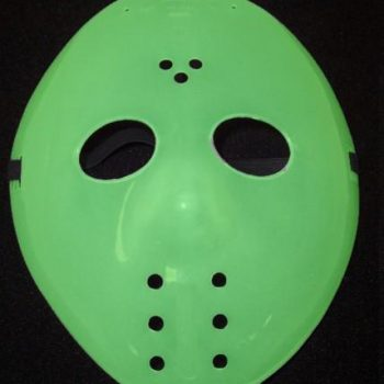 Green hockey mask