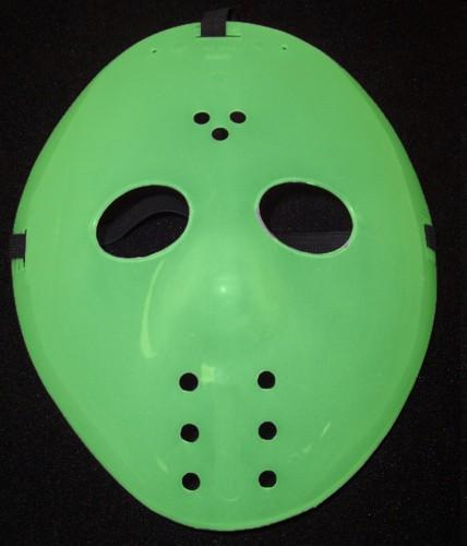 Green hockey mask