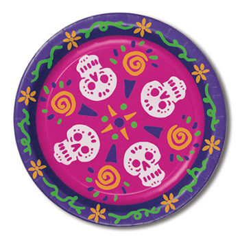Day of the Dead themed plates