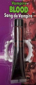 Tube of blood & teeth