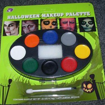 Halloween make-up palette