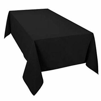 Plastic table cover black