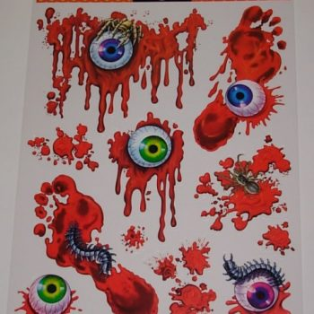 Bloody eyeball clings