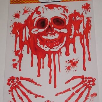 Bloody skull sticker