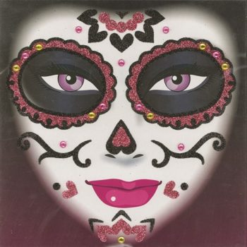 Day of the Dead glitter face art