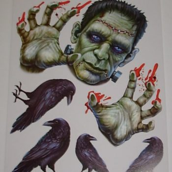 Frankenstein & crow stickers