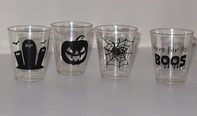 Plastic shot glasses Halloween