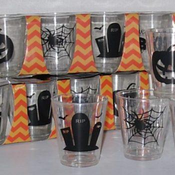 Shot glasses plastic Halloween