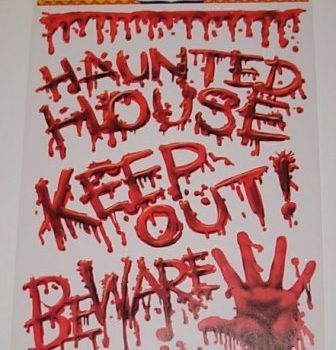 Haunted house bloody cling