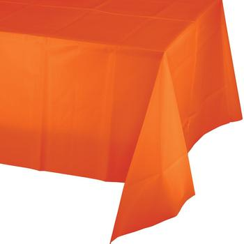 Plastic tablecover orange